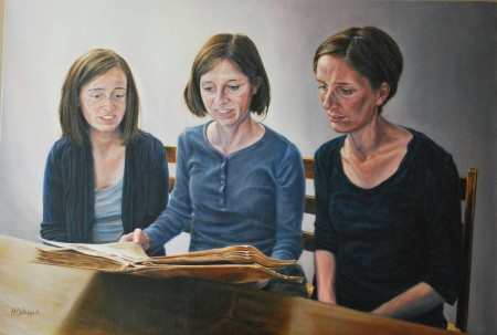 Three Daughters - oil on canvas, 2015