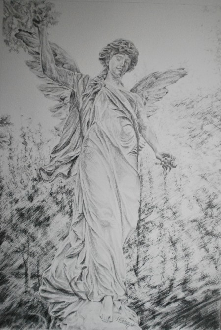 Our Guardian Angel - pencil on paper, 2015