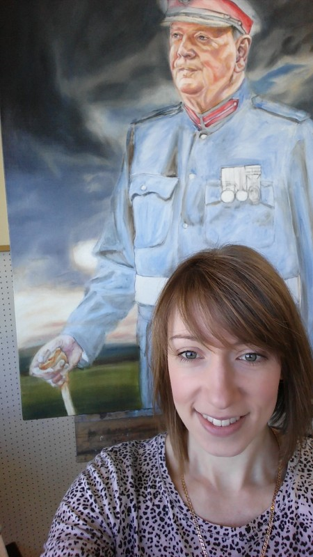 Yorkshire Artist Painting Portrait