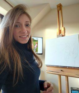 British Artist and Portrait Painter Hannah Ostapjuk