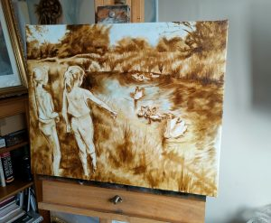 Yorkshire Artist and Portrait Painter - Girls English Countryside